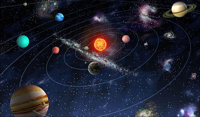 Сравнительные масштабы Вселенной