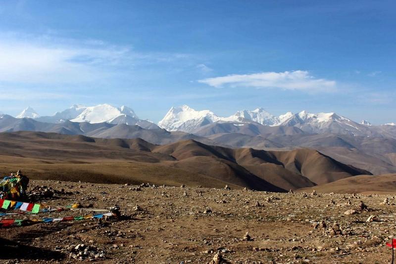 Вид на Гималаи с перевала