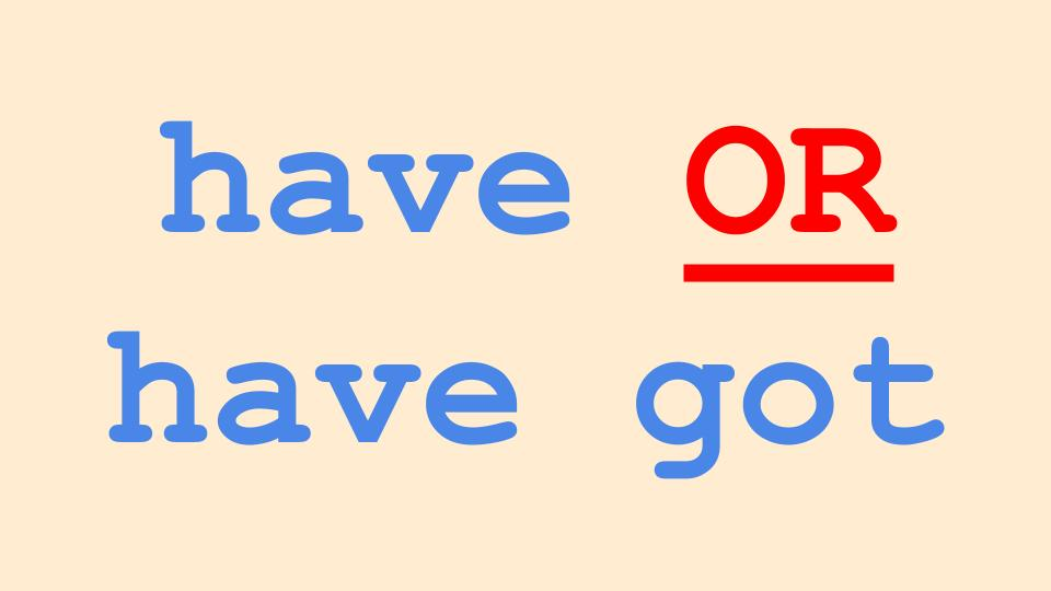 Have or have got in English Grammar