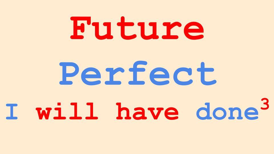 Future Perfect Tense in English language Grammar