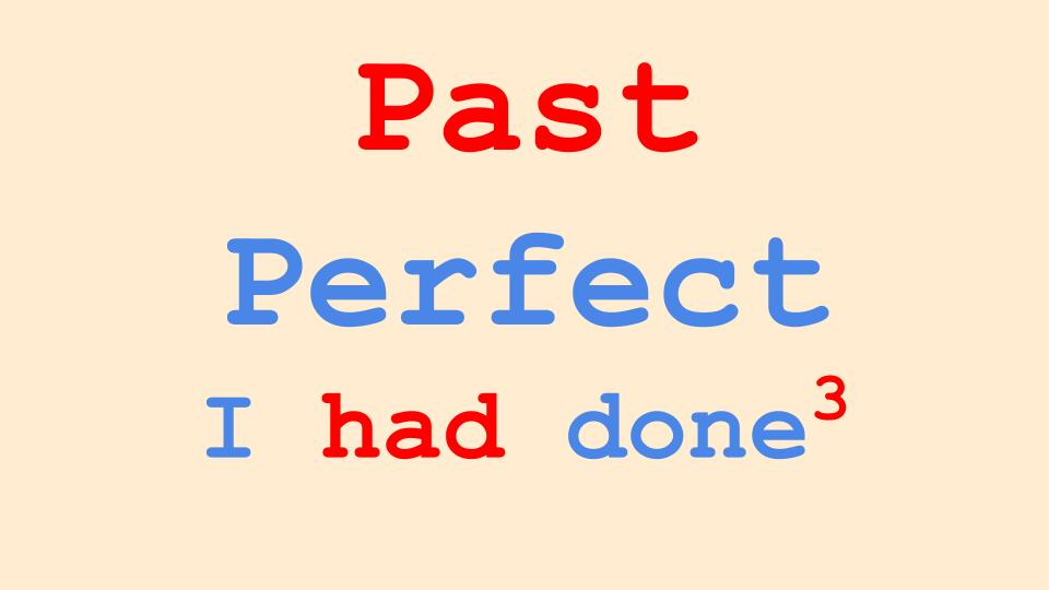 Past Perfect Tense in English Grammar
