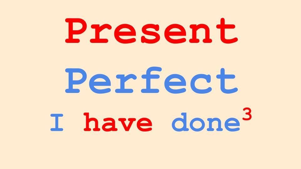 Present Perfect Tense in English Grammar