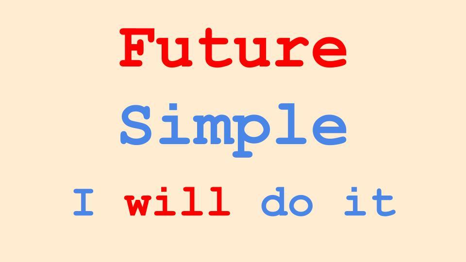Future Simple Tense In English Grammar