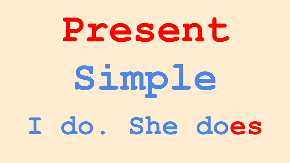 Present Simple English Grammar