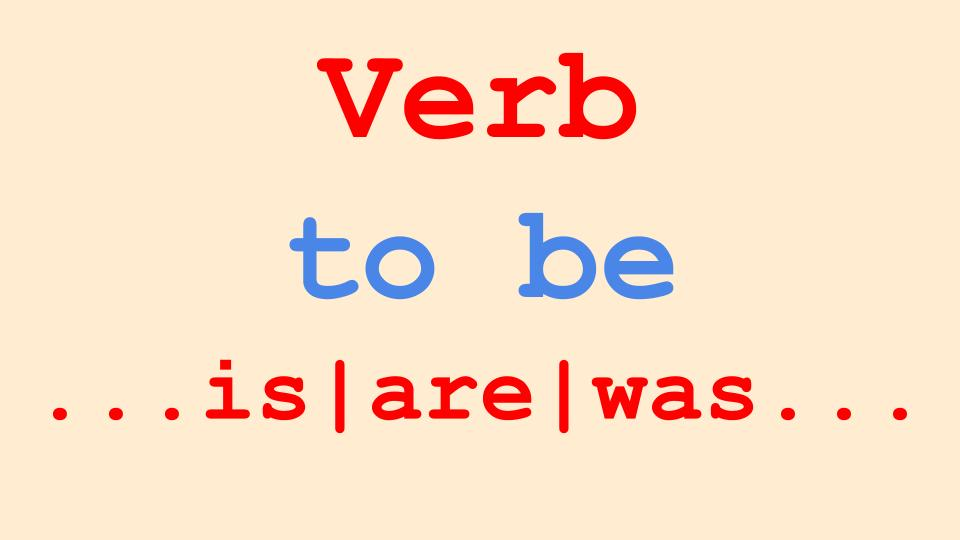 verb to be in English grammar